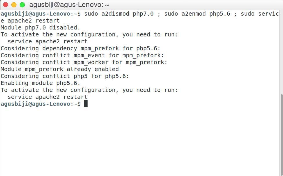 Install PHP 7.0 dan PHP 5.6 di Ubuntu