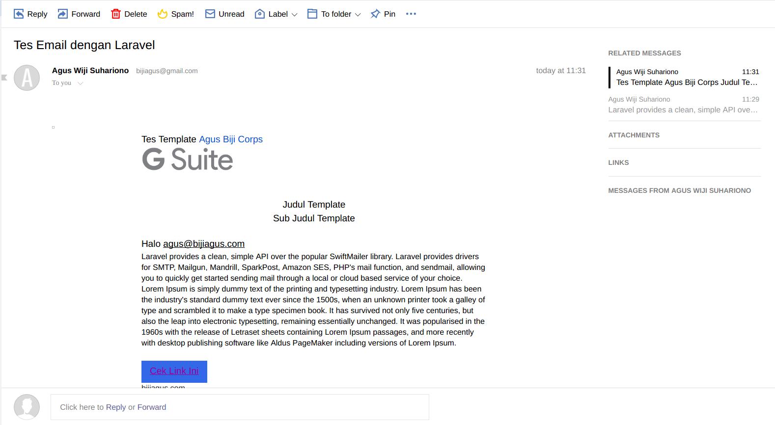 Mengirim Email Menggunakan Framework Laravel