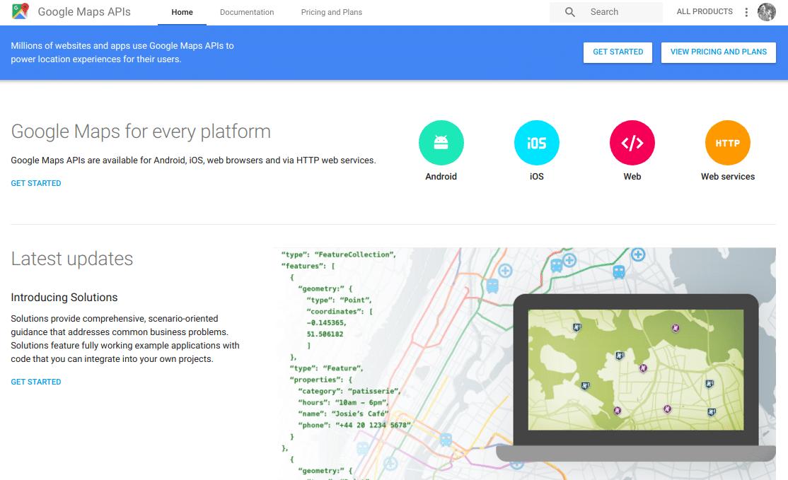 Menggunakan Google Maps Api pada Aplikasi Web