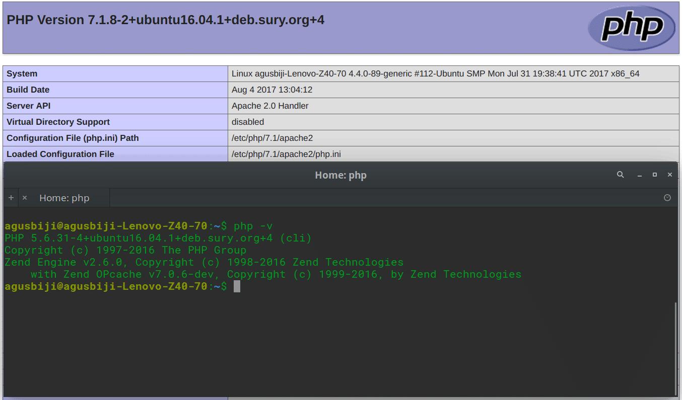 Mengganti Versi PHP CLI di Ubuntu