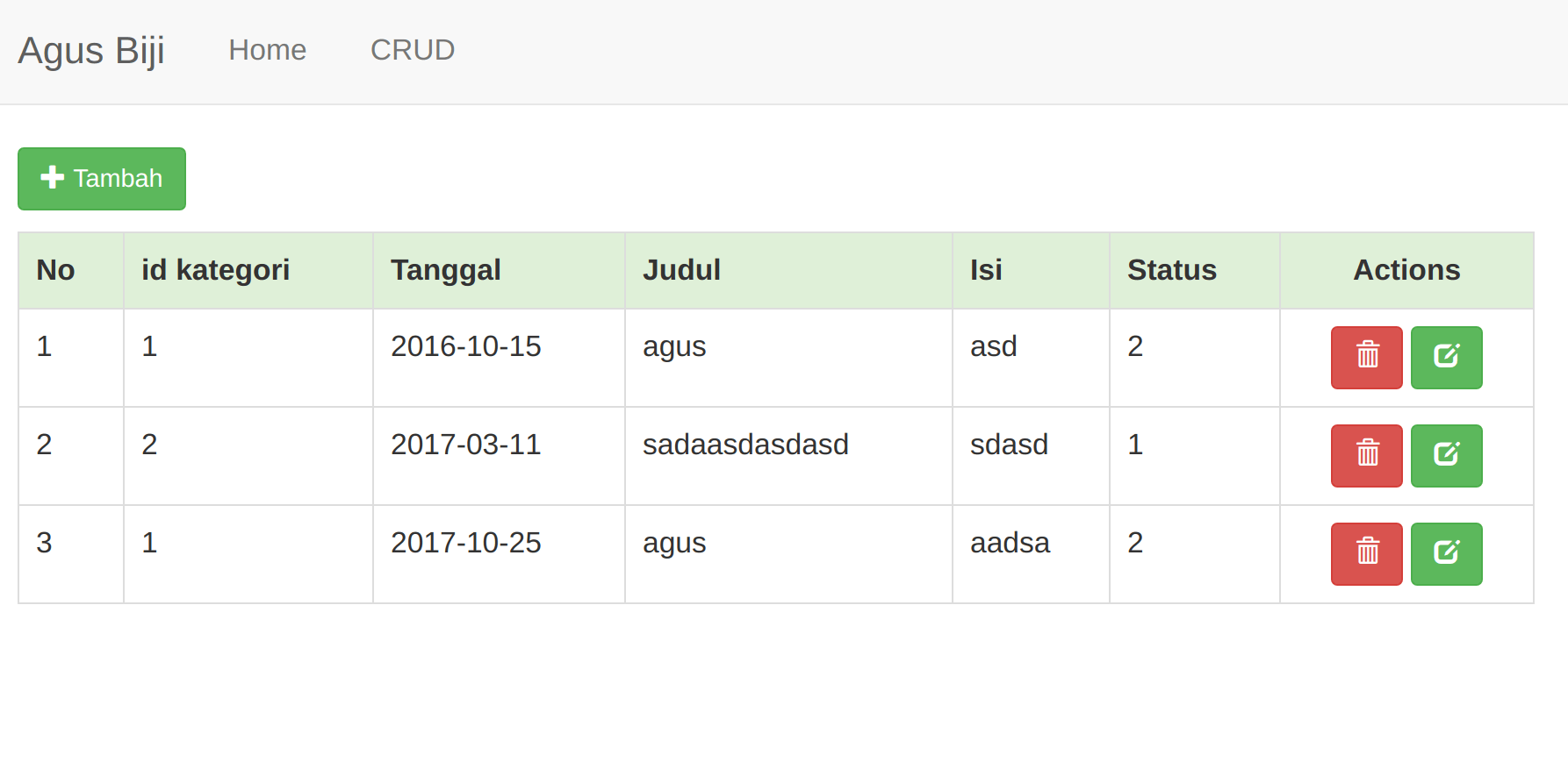 Membuat CRUD Native PHP dengan Mysqli